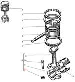 Поршень компрессора автомобиля Урал 4320-41