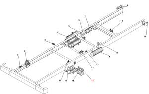 Установка агрегатов пневмогидравлического привода рабочих тормозов автомобиля Урал 4320-41