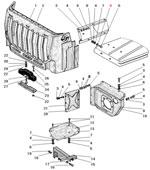Облицовка радиатора автомобиля Урал 4320-41