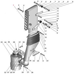 Установка воздушного фильтра и воздухозаборной трубы автомобиля Урал 63685