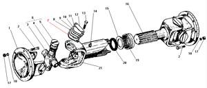 Промежуточный карданный вал автомобиля Урал 4320-41
