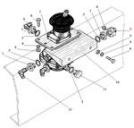 Установка тормозного крана автомобиля Урал 4320-41