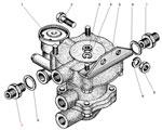Установка клапана прицепа с защитным клапаном автомобиля Урал 5557-40