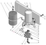 Установка блока подготовки воздуха автомобиля Урал 63685