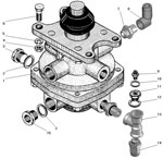 Установка тормозного крана автомобиля Урал 63685