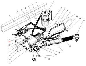 Рулевое управление с рулевым механизмом автомобиля Урал 5557-40