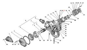 Редуктор главной передачи автомобиля Урал 4320-41