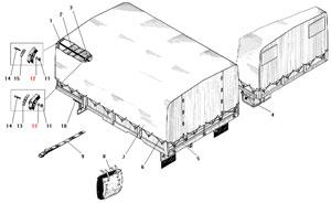 Тент платформы и дополнительное оборудование автомобиля Урал 4320-41