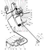 Привод управления сцеплением и тормозным краном автомобиля Урал 4320-41