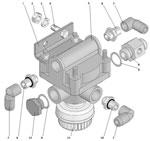 Установка ускорительного клапана стояночного тормоза автомобиля Урал 63685