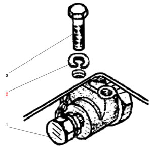 Установка буксирного клапана автомобиля Урал 5557-40