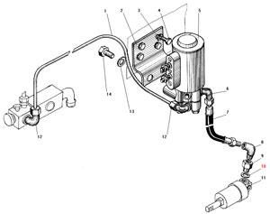 Установка клапана с трубками автомобиля Урал 4320-31
