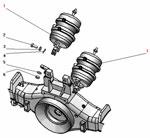 Установка тормозной камеры с энергоаккумулятором автомобиля Урал 63685