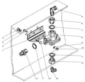 Установка двухмагистрального клапана автомобиля Урал 5557-40