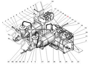 Установка усилителей тормозов и модуляторов автомобилей Урал 5557-40