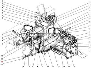 Установка усилителей тормозов и модуляторов с АБС автомобиля Урал 43206-41