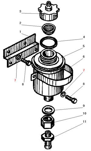 Установка бачка привода сцепления автомобиля Урал 4320-41