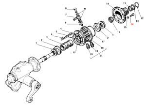 Клапан управления усилительным механизмом автомобиля Урал 4320-41