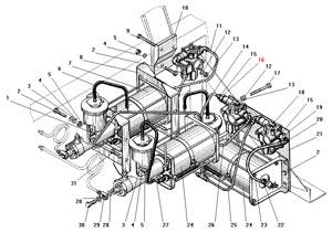 Установка усилителей тормозов и модуляторов с АБС автомобиля Урал 4320-41