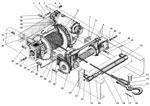 Лебедка с тросоукладчиком в сборе автомобиля Урал 4320-41
