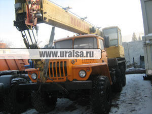 Автокран Ивановец 14т шасси Урал 5557