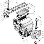 Картер и подвеска раздаточной коробки автомобиля Урал 4320-31