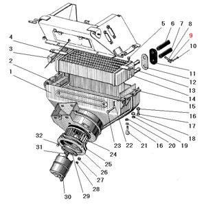Отопитель кабины автомобиля Урал 4320-41