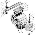 Картер и подвеска раздаточной коробки автомобиля Урал 4320-41