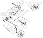 Привод стояночного тормоза и управление краном торможения прицепа автомобиля Урал 5557-40