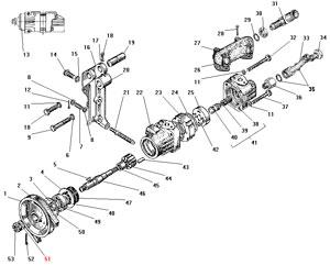 Насос гидроусилителя руля автомобиля Урал 4320-41