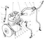 Установка компрессора автомобиля Урал 4320-41