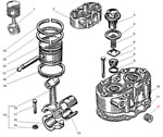 Головка и поршень компрессора автомобиля Урал 5557-40