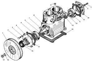 Блок-картер компрессора автомобиля Урал 4320-41