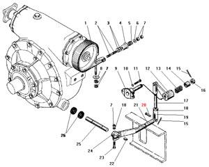 Тормоз и управление лебедкой автомобиля Урал 4320-41