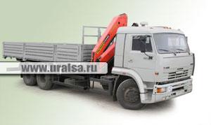 Автомобиль бортовой КАМАЗ 65117 с КМУ Palfinger PK 15500