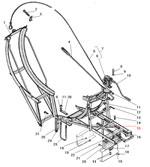 Вертикальный держатель запасного колеса автомобиля Урал 4320-41