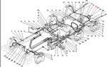 Крепление трубопроводов и шлангов пневмогидравлического привода рабочих тормозов без АБС автомобиля Урал 4320-41