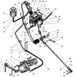 Привод педалей сцепления и тормоза с пневмогидроусилителем автомобиля Урал 43206-41