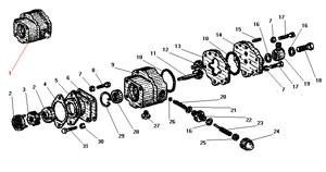 Топливный насос насосного агрегата автомобиля Урал 4320-41