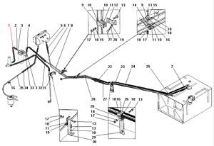 Трубопроводы и шланги системы питания автомобиля Урал 4320-41
