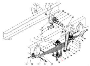 Передняя подвеска автомобиля Урал 4320-41