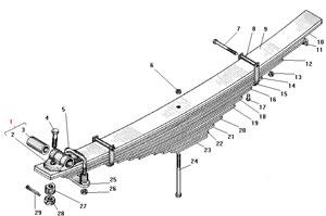 Передняя рессора автомобиля Урал 4320-41