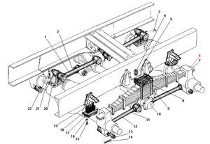 Задняя балансирная подвеска автомобиля Урал 4320-41