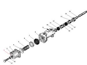 Кран управления давлением автомобиля Урал 4320-41