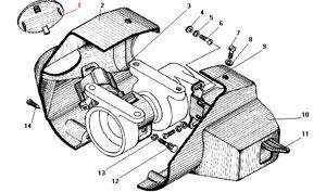 Установка выключателя зажигания рулевой колонки автомобиля Урал 4320-41