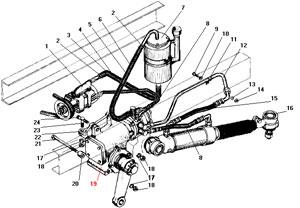 Рулевое управление с рулевым механизмом 5557я3-3400020 автомобиля Урал 4320-41