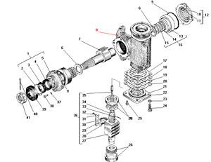 Механизм рулевой автомобиля Урал 4320-41