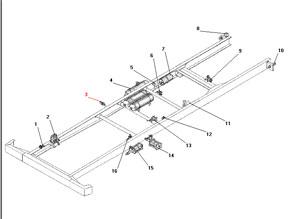 Установка агрегатов пневмогидравлического привода рабочих тормозов без АБС