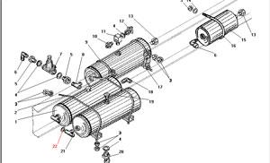 Установка воздушных баллонов без АБС автомобиля Урал 4320-41