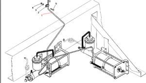 Система герметизации пневмоусилителей без АБС автомобиля Урал 4320-41